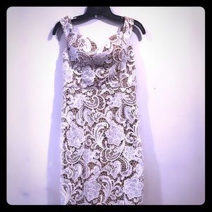 New White Lace Misguided Dress Size Large